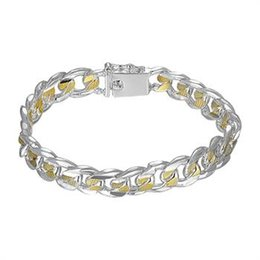 Wholesale 925 Mens Bracelet - H091 Guaranteed 100% 925 sterling fine Texture Bracelet,Mens Jewelry, wholesale rainbow pulsera popular fashion silver cool jewlery