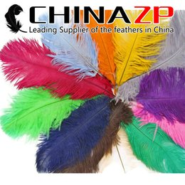 Wholesale Wholesale Feathers For Crafts - Cheap Wholesale CHINAZP Crafts Factory 25~30cm(10~12inch) Bulk Multicolor Ostrich Feathers for Wedding Party Table Decorations