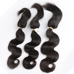 virgin human hair fedex Promo Codes - New Arrival Virgin Brazilian Hair Bundles Straight Human Braiding Hair 3PC Body Wave Straight Curly Free Shipping By Fedex