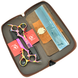 Wholesale hot comb set - 6.0Inch Meisha Dragon Handle Hot Sell Hair Cutting & Thinning Shears JP440C Professional Hair Scissors Set with Case + Comb ,HA0325