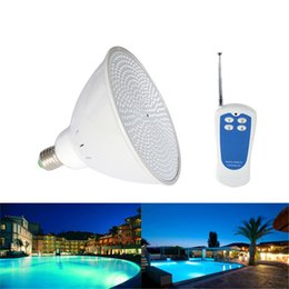 Wholesale par56 pool light led rgb - AC 12V E27 RGB LED Swimming Pool Underwater Light Bulb 18W 24W 35W Par56 Lampada for Outside Wateproor IP68 Pond Lamp with Remote Controler