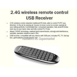 Wholesale-C120 tastiera da gioco Air Mouse Remote Controller con ricevitore USB Mini Wireless 2.4GHz teclado inalambrico Smart Tv tastiera PC cheap usb gaming controller da controller di gioco usb fornitori