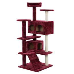 Wholesale Pet Cat Tree - New Cat Tree Tower Condo Furniture Scratch Post Kitty Pet House Play Wine