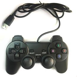 Wholesale Playstation Remote Controller - Black Wired PlayStation 2 Controller 1.8M Double Shock Remote joystick Gamepad Joypad for PlayStation 2 PS2 Two types port