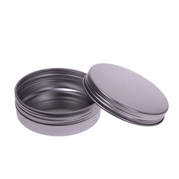 Wholesale Cosmetic Tins - 5 10 15 30 60 100 150 250 ml Makeup Aluminium Jar Tin Pot Nail Art Lip Empty Cosmetic Containers Screw Thread Cream Storage F201735