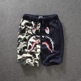 Wholesale Male Hip Hop Pants - 2017 New Tide Brand Camouflage Men's Shorts Letter Print Causal pants Loose Hip-hop TROUSES Cotton GO Male Sportwear Shorts