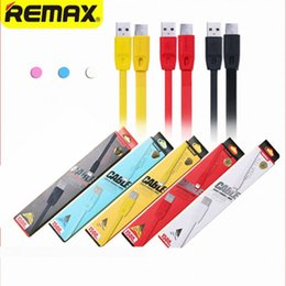 Wholesale Data Transfer Cables - 100% Original Remax Charging Mobile Phone Data cables 1M 2M Wire Micro USB Fast Charging Transfer Line for Android iphone with retail box