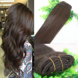 Wholesale 26 Remy Human Hair Clip - Clips Human Hair Extension 2# Dark Brown Straight Brazilian Human Hair 7PCS 120gram 12INCH 20INCH 26INCH