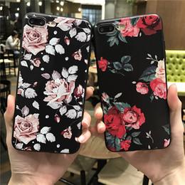Canada Rose Blanc Rose Fleur Silicone Full Body Case pour iPhone Case soft Téléphone Cas Couverture arrière Capa Coque Livraison gratuite supplier iphone covers flowers pink Offre