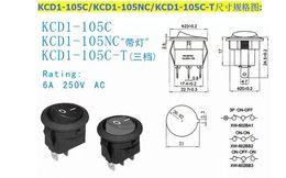 Aus-schalter rot online-3pin an oder aus runden Schalter rot 300pcs gute Qualität