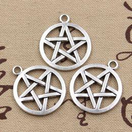 Wholesale Tibetan Silver Pentagrams - Wholesale- 20pcs Charms star pentagram 16*16mm Antique pendant fit,Vintage Tibetan Silver,DIY for bracelet necklace