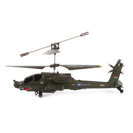 Wholesale Helicopter Toys For Kids - SYMA S109G Mini 3.5CH RC Helicopter AH-64 Apache Helicopter Gunships Simulation Indoor Radio Remote Control Toys for Gift 2107302