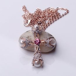 Wholesale Small Silver Cross Sterling - beauty youth beauty noble elegantIn 2017, the latest style aa of elegant women-only small silver necklace