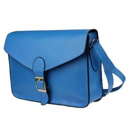 Wholesale 38 Handbags - Wholesale- Hot New Girl Women Leather Satchel Shoulder Messenger Bag Handbag 10 Color bolsa feminina bag women sac femme high quality #38