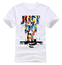 Wholesale Wholesale White Tees - T-Shirts For Men Fashion New men's t shirt Just Do It Short Sleeve O neck Tops Tees camisa masculina brand clothing