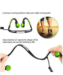 Wholesale Green Gold Ear - Open Ear Wireless Bone Conduction Headphones Bluetooth 4.1 Sports Stereo Headphone with Separate Wring Diagram (Green)