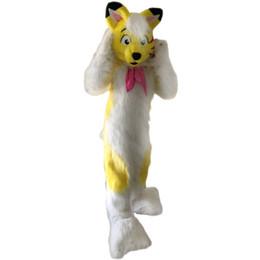 Wholesale Husky Dog Costume Adult - Yellow fox dog Husky Mascot Costume Cartoon Character Adult Size high quality Longteng (TM) 034