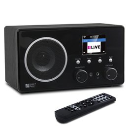 Wholesale Internet Receivers - Wholesale-Ocean Digital Wooden Cabinet Color Display Multi-function FM DAB Radio WiFi Internet Radio Receiver Bluetooth