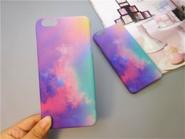 Wholesale Rainbow Cover Mobile - Rainbow Phone Shell Mobile Protective Sleeve Case Back Hard PC Cover for iPhone 6 6S Plus iPhone 7 7 Plus