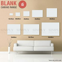Wholesale 5x Blank Artist Stretched Canvas Canvases Art Large White Range Oil Acrylic Wood