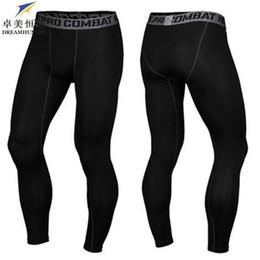 Wholesale Men Trousers Wholesale - Wholesale-High Quality 2016 Brand Cotton Men skinny Pants Slim Fit Skinny Casual Trousers Bodybuilding Fitness men Compression Active Pant