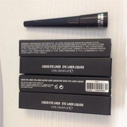 Wholesale Eyeliner Waterproof Liquid Pencil - M# Black Liquid Eyeliner Pen MC Cosmestic Waterproof Eyeliner Long Lasting Cosmetic Eyes Makeup Liquid Eyeliner Pencil 12pc