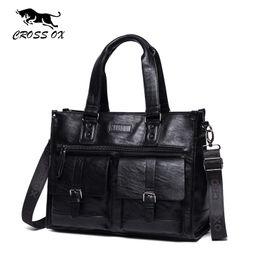 Wholesale Women Leather Laptop Case - CROSS OX New Arrival Satchels Briefcase Business Handbag 15 Inch Laptop Bag Documents Case Artificial Leather Bag HB570M