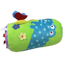 Wholesale Musical Baby Doll - Wholesale- Baby Climbing Pillow Rattles Bell Doll Plush Toys 0+ Baby Toy Developmental Infant Mobile Baby Crib Musical Rattle