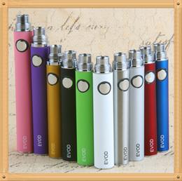 Wholesale pc batteries - 5 Pcs eGo EVOD Battery ego Ecig Batteries 650 900 1100 mAh 510 Thread E cigarette Battery match evod mt3 CE4 Vaporizer Atomizer 100% Quality