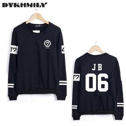 Wholesale Korean Couple Pullover - Plus Size Got7 2016 New Korean Men Sweatshirts Slim Harajuku Couple Clothes Letters Number Print Hoodie Casual Pullover Hiphop