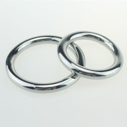 Wholesale Adult Cases - Free shipping Metal Steel Penis ring Cockring Delayed Ejaculation Adult Products Casing Delay Lock Loops JJ rings Sex Rings RYSM-030