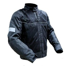 Wholesale Riding Jackets - High quality 2017 New Summer Mesh Motorcycle Jacket Automobile Motorbike Riding Jackets breathable With protective gear Black