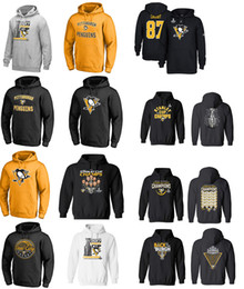 Wholesale Red Gold Loose - 2017 NHL PITTSBURGH PENGUINS hoodies kessel crosby letanglemieux guentzel malkin Name and Number Player sweatshirts