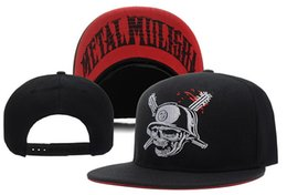Wholesale Metal Snapback Hats - Metal Men's Party Trucker Snapback Hat Black cool Sports Hats caps,wholesale 2017 new men Fashion Adjustable Snapbacks Cap Hat ball Hat cap