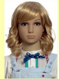 Wholesale Girl Mannequins - Freeshipping 1PC 5 colour hairdressing head wigs , Children 's models wigs clothing props bald child wig girl,Freeshipping,M00432