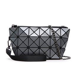 Wholesale Matt Chain - New Foldable Geometric Split Joint Plaid Matt Clutch Bags Cross Body Shoulder Bag Sequins Messenger Patchwork Handbag For Women Wholesale