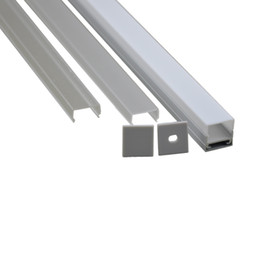 Wholesale Profile Extrusions - 10 X 1M sets lot Al6063 T6 led strip light profile and U type led extrusion lighting for ceiling or wall lamps
