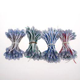 blau geführtes helles licht Rabatt 9mm Pixel führte helle einzelne Farbe geführte Streifenlichter geführtes wasserdichtes Neonstreifenlicht DC5V / DC12V