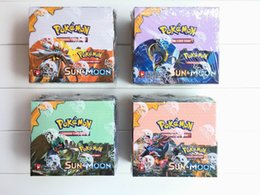 Wholesale Pokemon Games Cards - Poke Trading Cards Games Sun & Moon Version 4 Styles Anime Pocket Monsters Cards Toys 324pcs lot