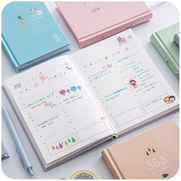 Wholesale Notebook Planner - Wholesale- New Arrival 365 Days Personal Diary Planner Hardcover Notebook 2017 Weekly Schedule Cute Korean Stationery Flower Agenda