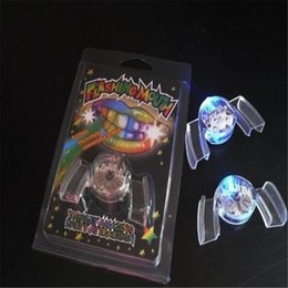 Craft item on-line-Led Teeth Braces Toothsocket Led Mouth Flashing Teeth Mouth Toy Fashion Gifts And Crafts Party Items DHL Free