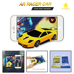Wholesale Red Pocket Android - AR Racing Car with Real Flashes Leaps Vibrations Pocket Toy Mini Toy Car for Iphone iPad and Android Phone with Retail Package