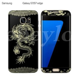 Wholesale Screen Protectors Designs - 0.1MM 3D Curved PET Full Cover Screen Protector Rose & Chinese Dragon Pattern For Samsung Galaxy S7 S6 Edge 10 Designs Wooden Box