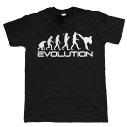 Wholesale Evolution Men - Evolution of Martial Arts New Fashion Men's T-shirts Short Sleeve Tshirt Cotton t shirts Man Clothing Free Shipping