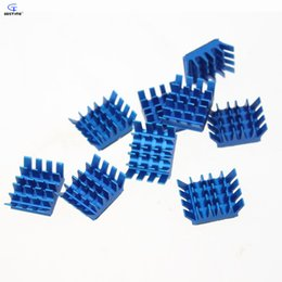 Wholesale Copper Vga Heatsink - Wholesale- 20 Pieces Lot Blue Mini Aluminum Heatsink Cooling Heat Sinks Cooler IC VGA RAM DDR X360 GDT-X8