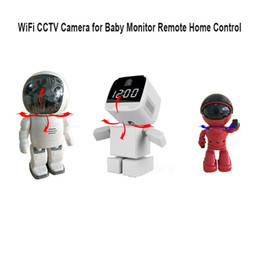 Wholesale Remote Robot Camera - Robot WiFi IP Camera with Clock Onvif HD 720P wireless Surveillance Network CCTV Camera Baby Monitor Remote monitor home security Camera