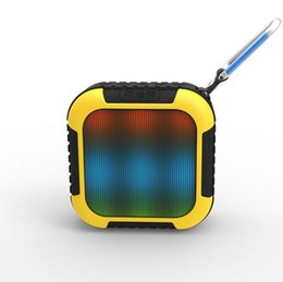 Wholesale Doss Mini Speaker - XET-GEK Mini Original DOSS Alonso DS-1558 LED Firefly Bluetooth speaker with FM TF card play More color LED Lamp Smart Portable Mini Speaker