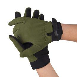 handschuhe taktisch grün Rabatt Heißer Verkauf 3 Größen Outdoor Rutschfeste Radfahren Handschuhe Tactical Airsoft Reiten Radfahren Jagd Vollfinger Handschuhe Armee Grün