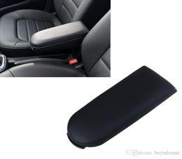 Wholesale Vw Golf Leather - Black Leather Center Console Armrest Cover Pad Lid For VW Passat Jetta Golf MK4 Skoda Octavia Car Styling #P01