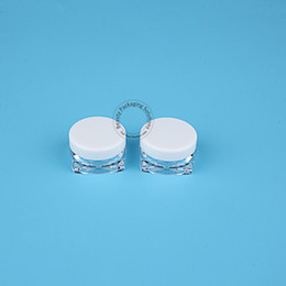 Canada 500 pcs / Lot En Gros 3g Vide Crème En Plastique Blanc Noir Couvercle Fard À Paupières Cosmétique Conteneur Petit Pot Rechargeable Mini Bouteille cheap eyeshadow containers wholesale Offre